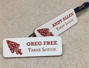 Tarhe Lodge Name Badge